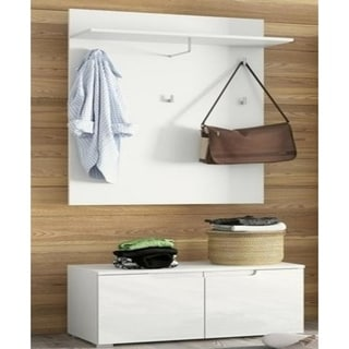Link to Porch & Den Gonzaga White Hall Tree Similar Items in Living Room Furniture