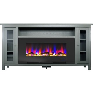 Cambridge Somerset 70-In. Gray Electric Fireplace TV Stand