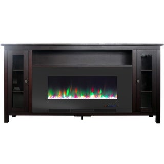 Cambridge Somerset 70-In. Mahogany Electric Fireplace TV Stand