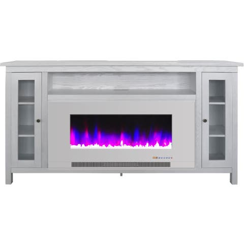 Cambridge Somerset 70-In. White Electric Fireplace TV Stand