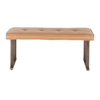 Link to Carbon Loft Arturio Industrial Upholstered Bench Similar Items in Living Room Furniture