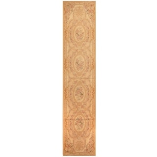 Handmade Sino Aubusson Flatweave Wool Rug - 2'7 x 12'