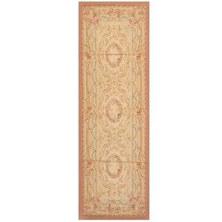 Handmade Sino Aubusson Flatweave Wool Rug - 2'7 x 8'