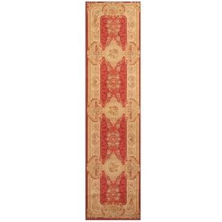 Handmade Sino Aubusson Flatweave Wool Rug - 2'7 x 10'4