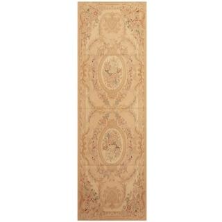 Handmade Sino Aubusson Flatweave Wool Rug - 2'8 x 8'