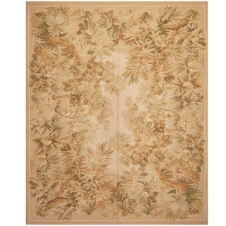 Handmade Sino Aubusson Flatweave Wool Rug - 8' x 10'