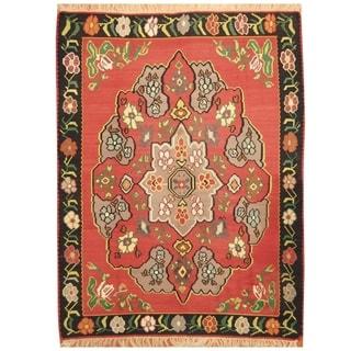 Handmade Anatolia Wool Kilim Rug (Turkey) - 7'3 x 9'8
