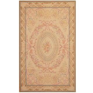 Handmade Herat Oriental Sino Hand-woven Aubusson Flatweave Wool Rug (5' x 8') - 5' x 8'