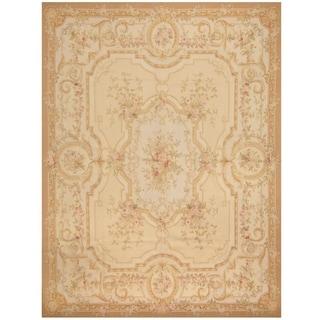 Handmade Sino Aubusson Flatweave Wool Rug - 8' x 10'3