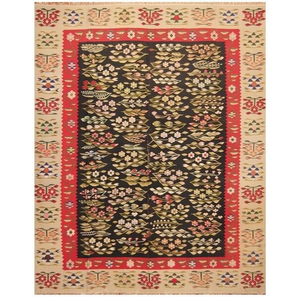 Handmade Anatolia Wool Kilim Rug (Turkey) - 8' x 10'