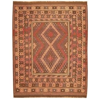 Handmade Maimana Wool Kilim Rug (Afghanistan) - 8' x 10'5