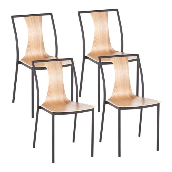Carson Carrington Cookstown Metal and Wood Dining Chair (Set of 4)