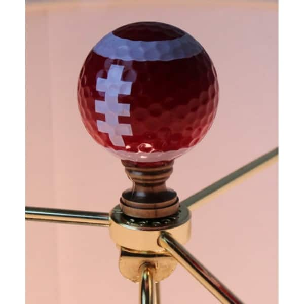 Football Lamp Finial Brown with White Laces 2.25h