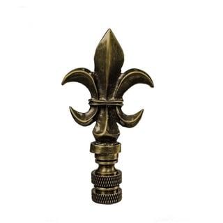 """Fleur De Lis Antique Brass Lamp Finial 3.2""""h"""