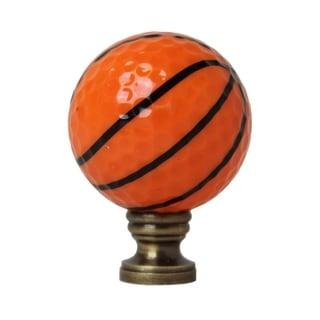 "Basketball Lamp Finial, Orange with Black Lining 2.25""h"