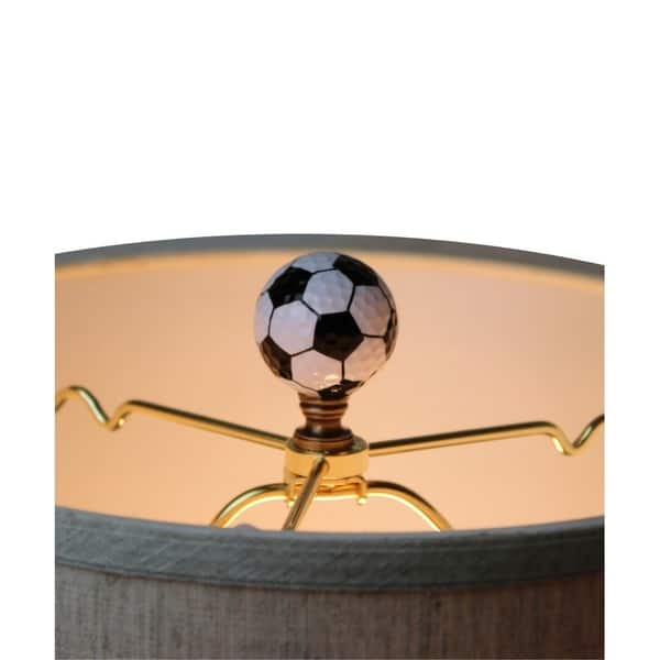 Soccer Ball Lamp Finial Black And White Pentagon Pattern 2 25 H Overstock 25727892