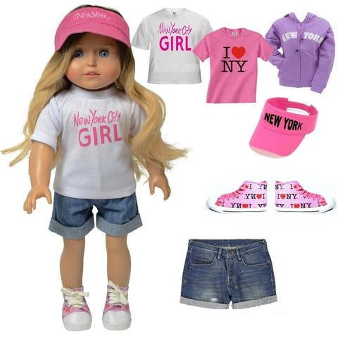Kay - 18 Inch Doll Tourist Doll Clothing Accessory Set Summer Clothing