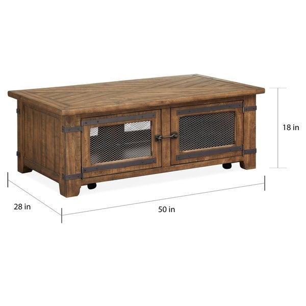 Carbon Loft Michael Storage Cocktail Table with Casters - 50.00l x 28.00w x 18.00h