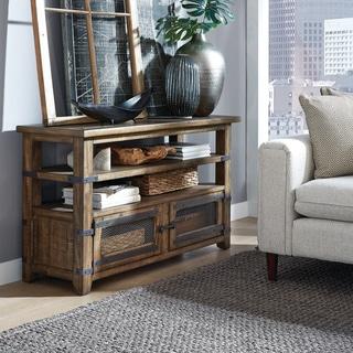Carbon Loft Michael Brown Pinewood Rectangular Sofa Table