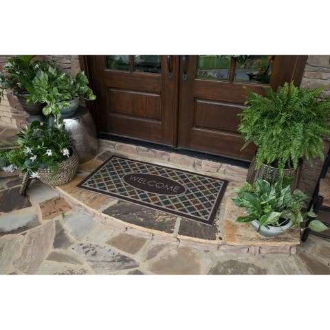 Mohawk Ornamental Flowery Tiles Entry Mat - 2' x 4'