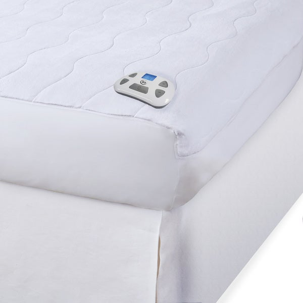 Shop Serta Electric Microplush Heated Mattress Full Size ...