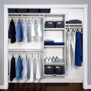 John Louis Home 12in Deep Solid Wood Simplicity Organizer Grey