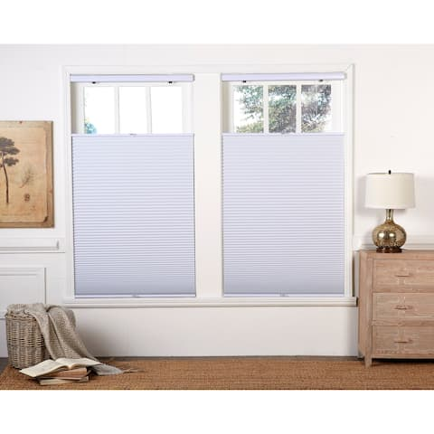 Copper Grove Yerevan White Blackout Top Down Bottom Up Shade (64 in.)
