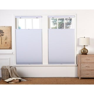 White Blackout Top Down Bottom Up Shade (64-inches long)