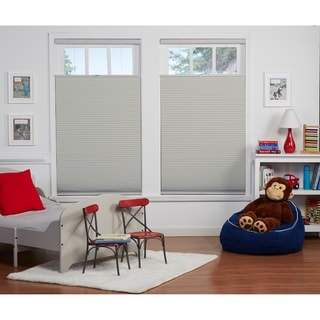 Link to Copper Grove Yerevan 64-inch Grey/White Blackout Top Down/Bottom Up Shade Similar Items in Blinds & Shades