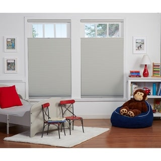 Grey/White Blackout Top Down Bottom Up Shade (64-inches long)