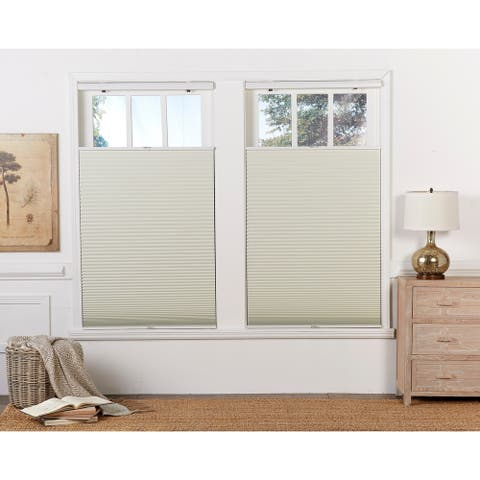 Copper Grove Yerevan 64-inch Cream/White Blackout Top Down/Bottom Up Shade