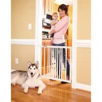 Storkcraft Easy Walk-Thru Wooden Safety Gate - Adjustable Gate For Doorways and Stairs