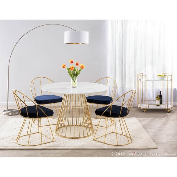 Shop LumiSource Canary Contemporary Round Dining Table ...