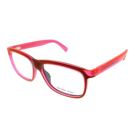 Marc by Marc Jacobs Rectangle MMJ 615 MGP Unisex Red Fluorescent Pink Frame Eyeglasses