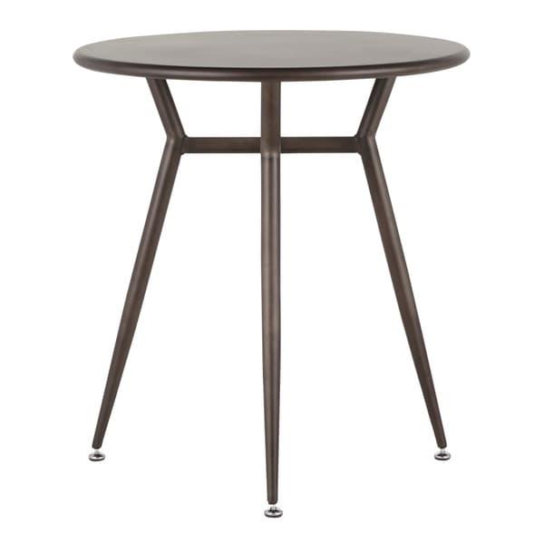 LumiSource Clara Industrial Round Dinette Table
