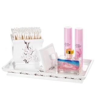 Vanda Vanity Tray for Arranging Perfume/ Jewelry/ Makeup (White)