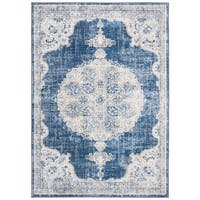 Safavieh Brentwood Traditional Rug- Navy / Ivory - 9' x 12'