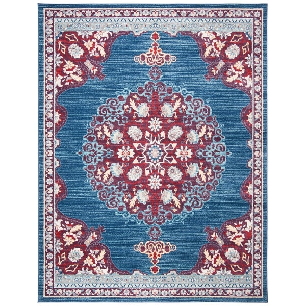 Shop Safavieh Brentwood Traditional Rug Navy Burgundy