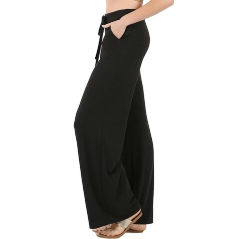 JED Women's Soft Feel Wide Leg Drawstring Casual Pants