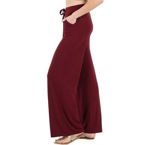 JED Women's Soft Feel Wide Leg Drawstring Casual Pants