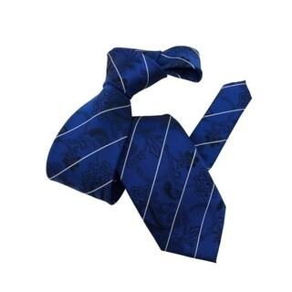 DMITRY Royal Blue Paisley Patterned Italian Men's Silk Tie