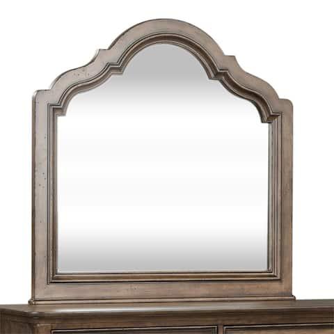 Parisian Marketplace Heathered Brownstone Scalloped Mirror - Brown