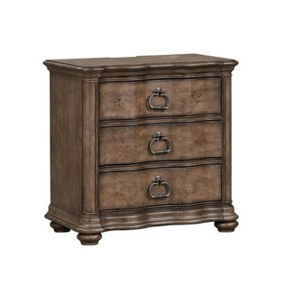 Parisian Marketplace Heathered Brownstone 3-drawer Night Stand