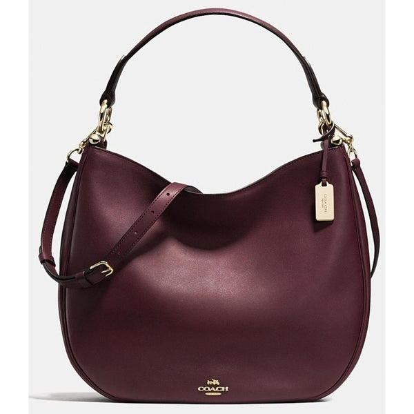 f03aa4d6475 Shop COACH Nomad Hobo in Glovetanned Leather Handbag - Oxblood   Red - 36026-LIOXB  - Free Shipping Today - Overstock.com - 25730334