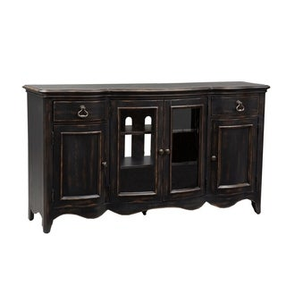 Chesapeake Wire Brushed Antique Black TV Console