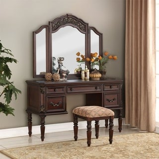 Messina Estates Cognac 3-piece Vanity Set