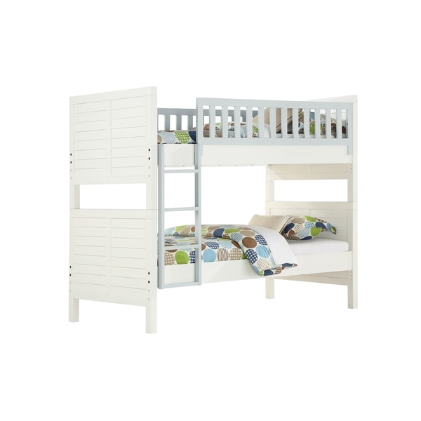 Emerald Home Classic Contemporary Twin over Twin Bunk Bed