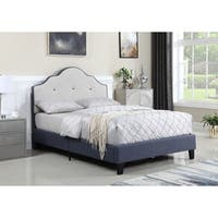 Emerald Home Anchor Bay Coastal Blue Twin Upholstered Bed
