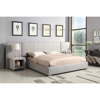 Emerald Home Cazelle Dove Gray Upholstered Storage Wall Bed With Wings