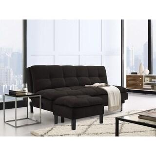 Serta Morgan Tufted Fabric Convertible Sofa